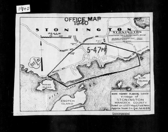 1940 Census Enumeration District Maps - Maine - Hancock County - Stonington - ED 5-47, ED 5-48