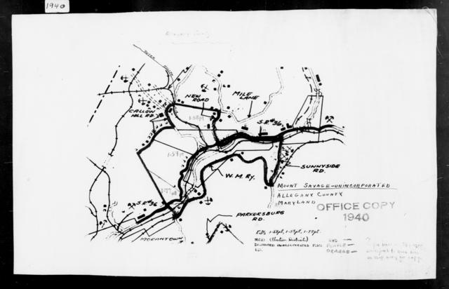 1940 Census Enumeration District Maps - Maryland - Allegany County - Mount Savage - ED 1-58, ED 1-77