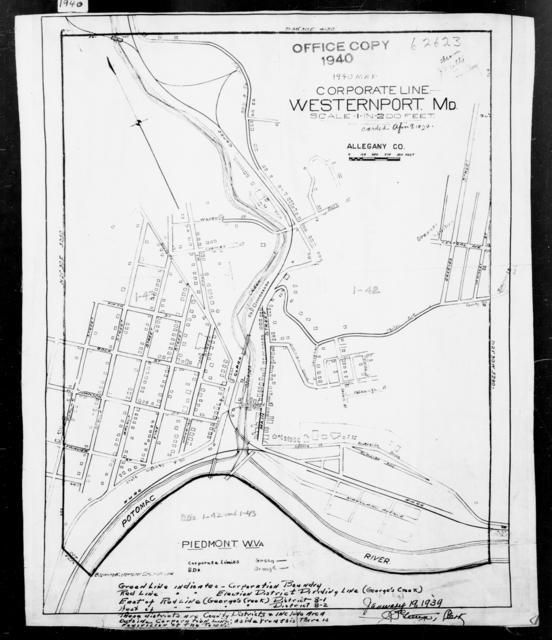 1940 Census Enumeration District Maps - Maryland - Allegany County - Westernport - ED 1-43