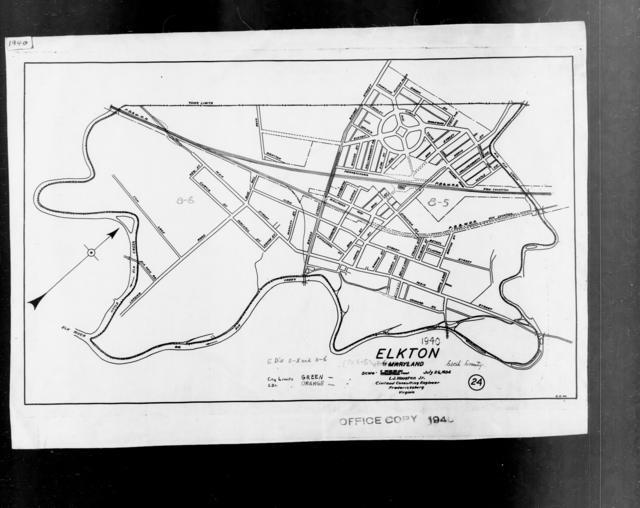 1940 Census Enumeration District Maps - Maryland - Cecil County - Elkton - ED 8-5, ED 8-6