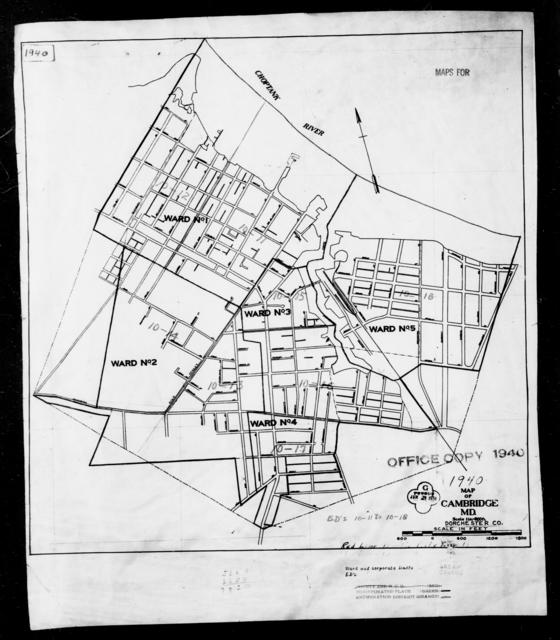 1940 Census Enumeration District Maps - Maryland - Dorchester County - Cambridge - ED 10-11, ED 10-12, ED 10-13, ED 10-14, ED 10-15, ED 10-16, ED 10-17, ED 10-18