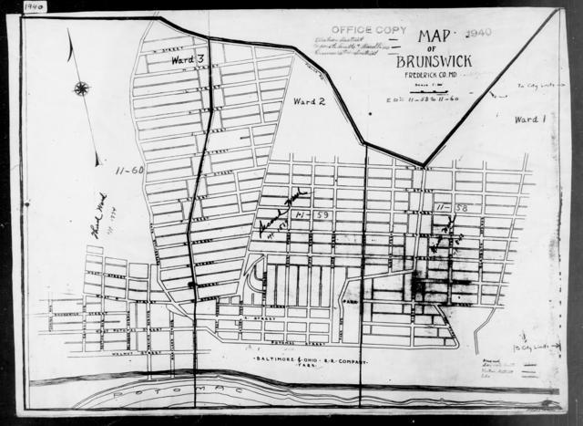 1940 Census Enumeration District Maps - Maryland - Garrett County - Brunswick