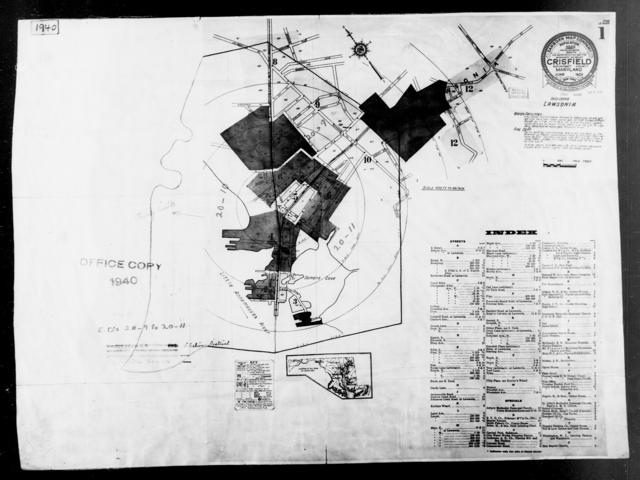 1940 Census Enumeration District Maps - Maryland - Somerset County - Crisfield - ED 20-9, ED 20-10, ED 20-11