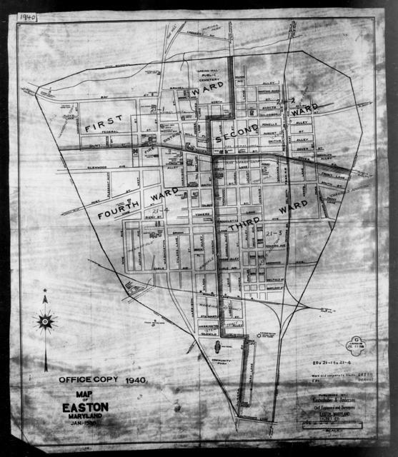 1940 Census Enumeration District Maps - Maryland - Talbot County - Easton - ED 21-1, ED 21-2, ED 21-3, ED 21-4