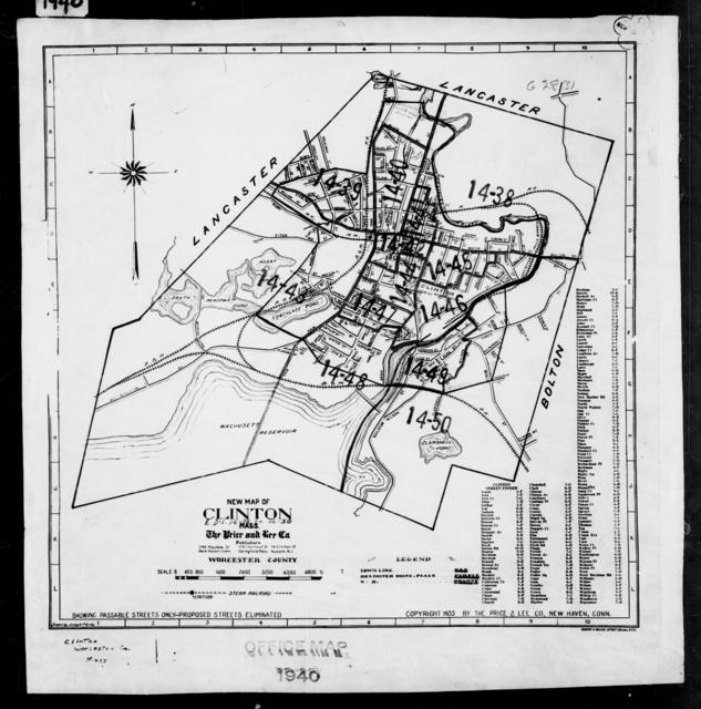 1940 Census Enumeration District Maps - Massachusetts - Worcester County - Clinton - ED 14-38 - ED 14-50