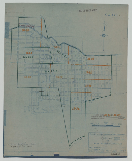 1950 Census Enumeration District Maps - Arkansas - Crittenden County - West Memphis - ED AR 18-26 to 34