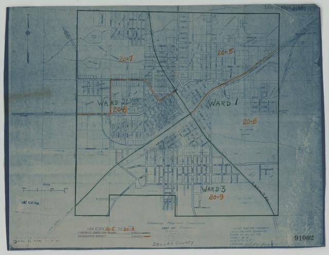 1950 Census Enumeration District Maps - Arkansas - Dallas County - Fordyce - ED AR 20-5 to 9