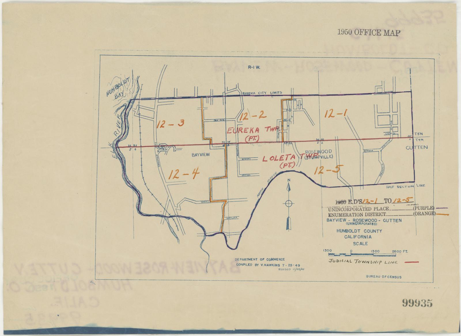 1950 Census Enumeration District Maps California Ca Humboldt