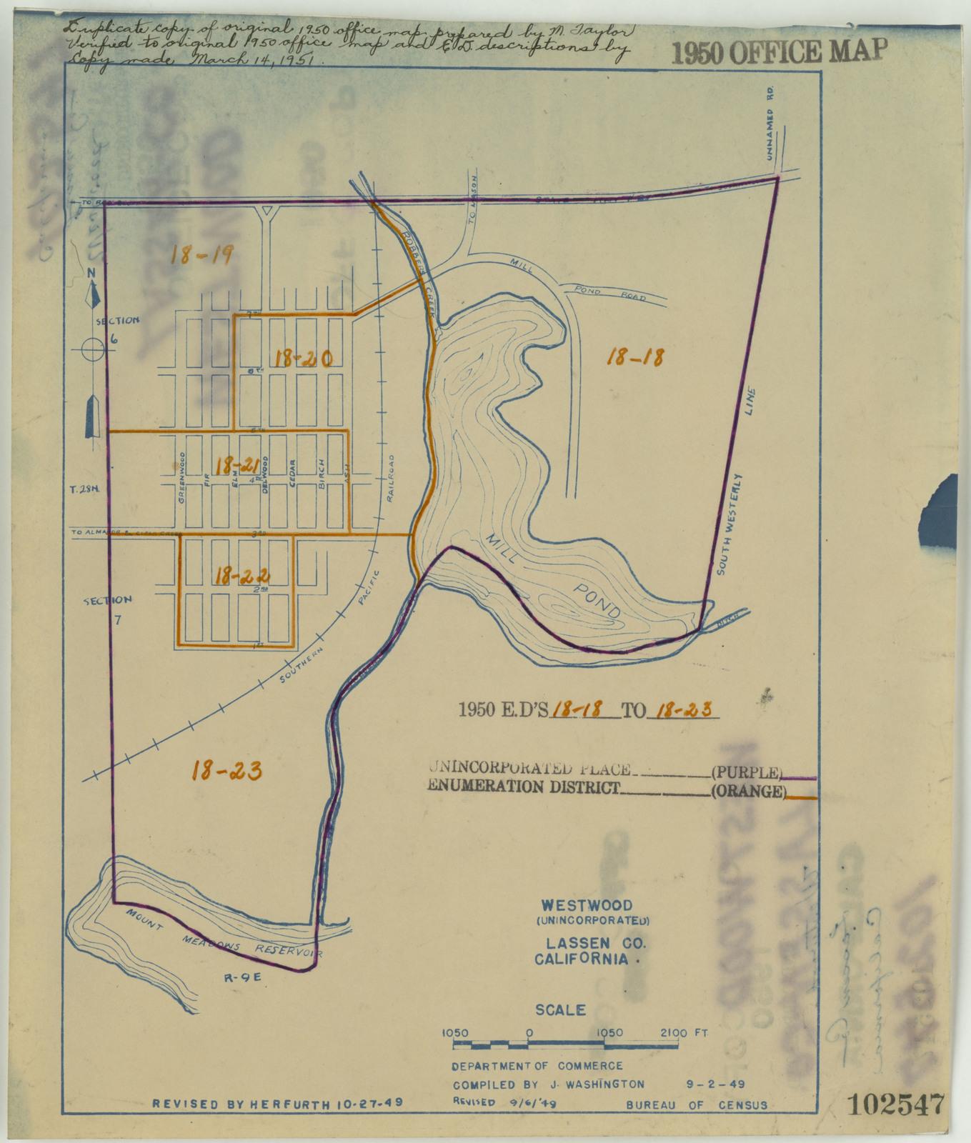 1950 Census Enumeration District Maps - California (CA