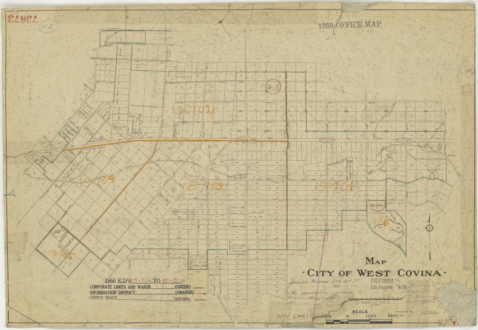 1950 Census Enumeration District Maps - California (CA) - Los