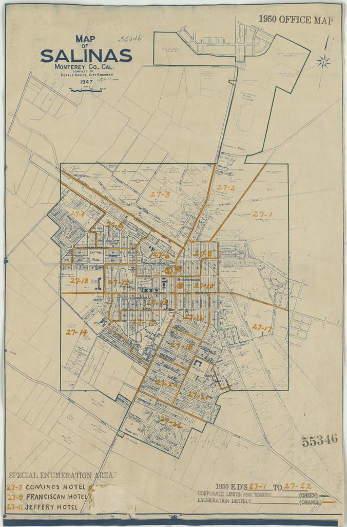 1950 Census Enumeration District Maps - California (CA ...