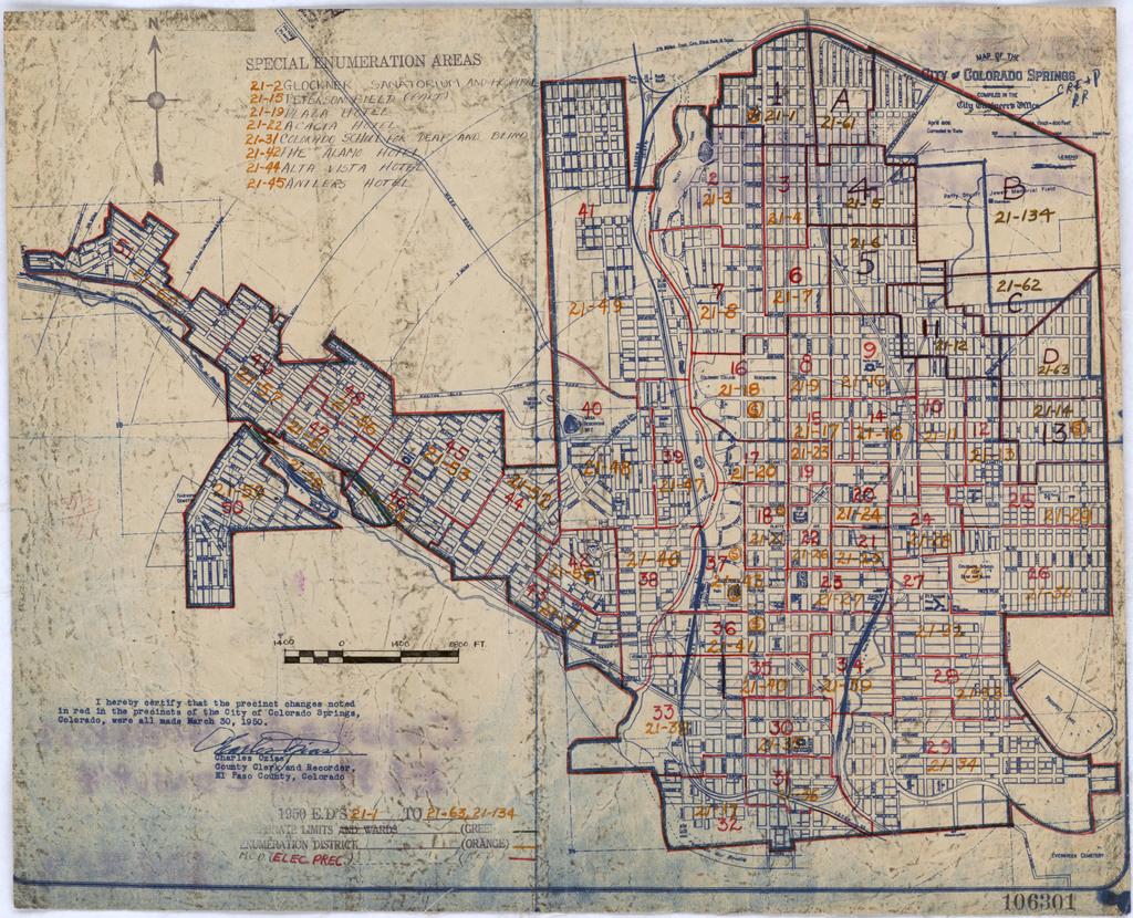 1950 Census Enumeration District Maps - Colorado (CO) - El Paso ...