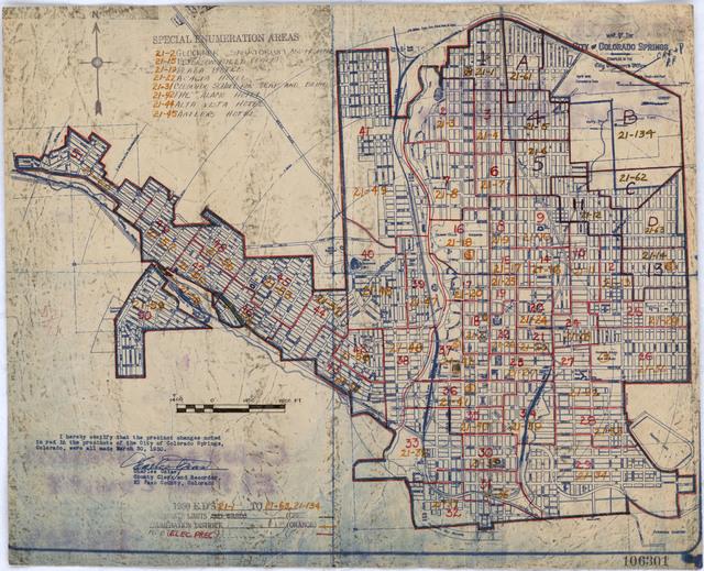1950 Census Enumeration District Maps - Colorado (CO) - El Paso County - Colorado Springs - ED 21-1 to 63, 21-134