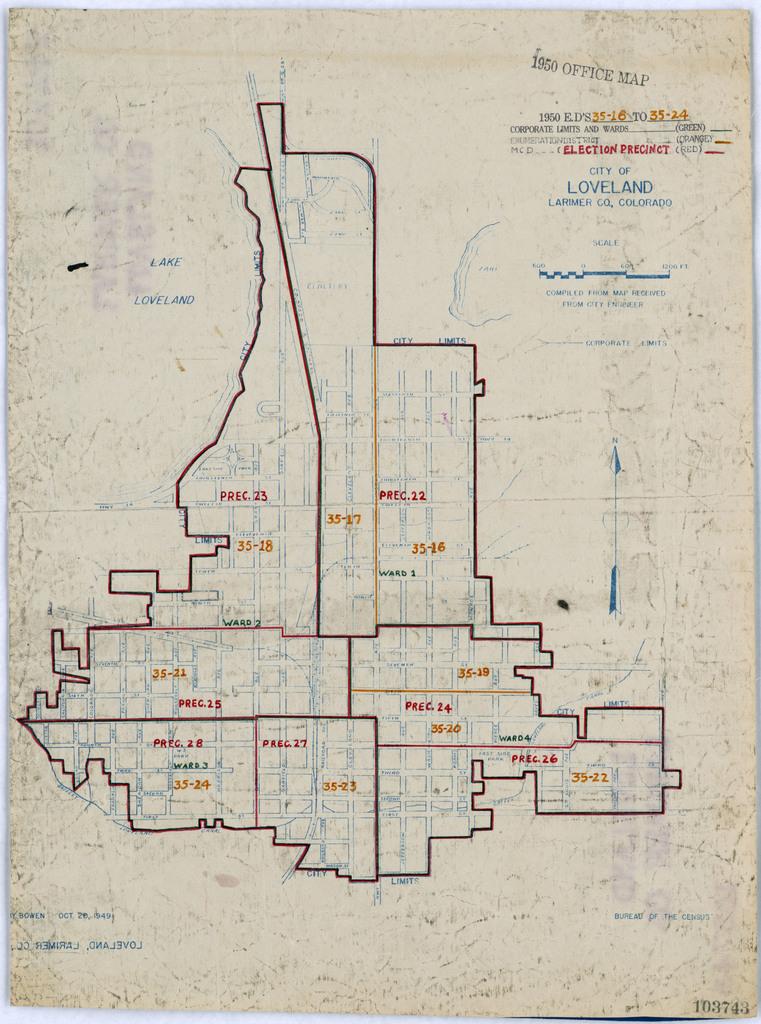 1950 Census Enumeration District Maps - Colorado (CO ...