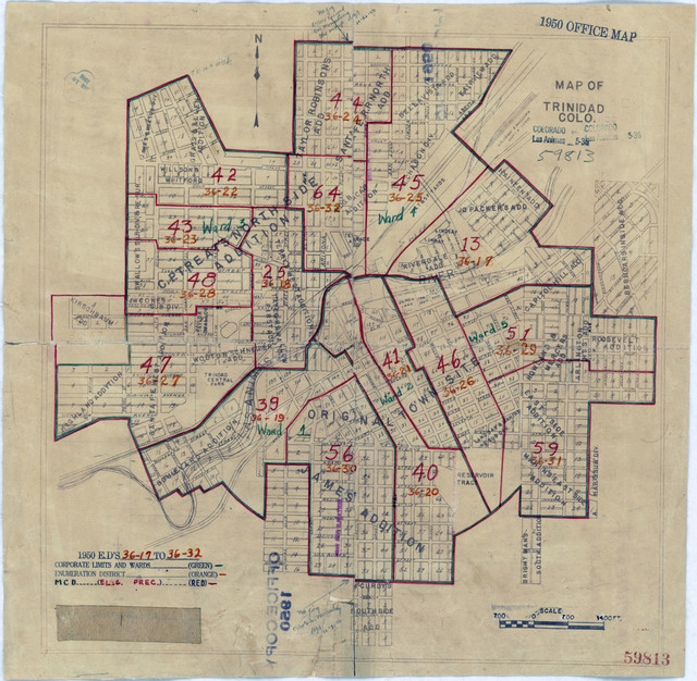 1940 Census Enumeration District Maps Colorado Las Animas County