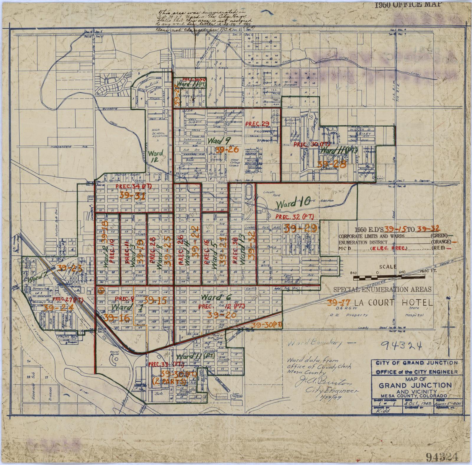 1950 Census Enumeration District Maps - Colorado (CO) - Mesa ...