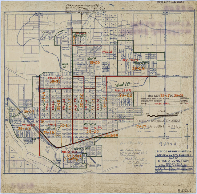 1950 Census Enumeration District Maps - Colorado (CO) - Mesa County - Grand Junction - ED 39-15 to 32