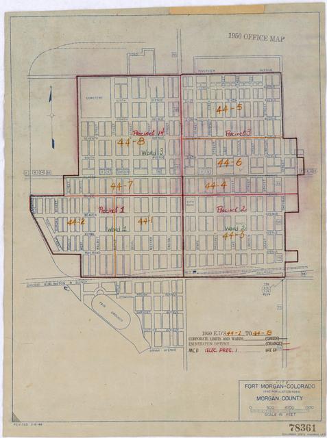 1950 Census Enumeration District Maps - Colorado (CO) - Morgan County - Fort Morgan - ED 44-1 to 8