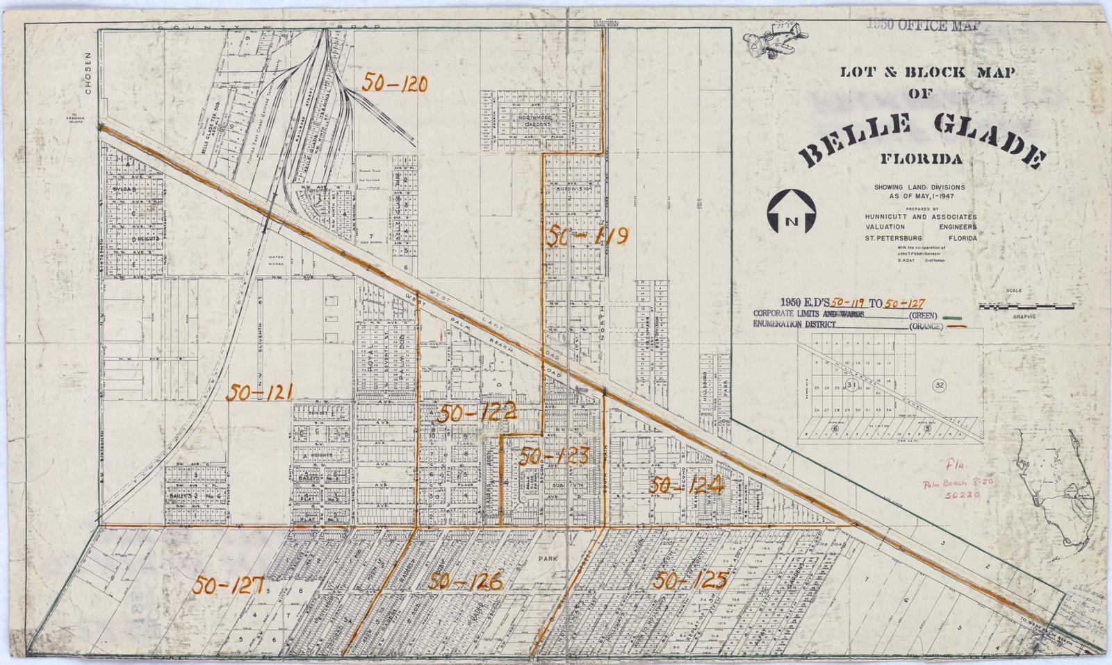1950 Census Enumeration District Maps Florida Fl Palm Beach