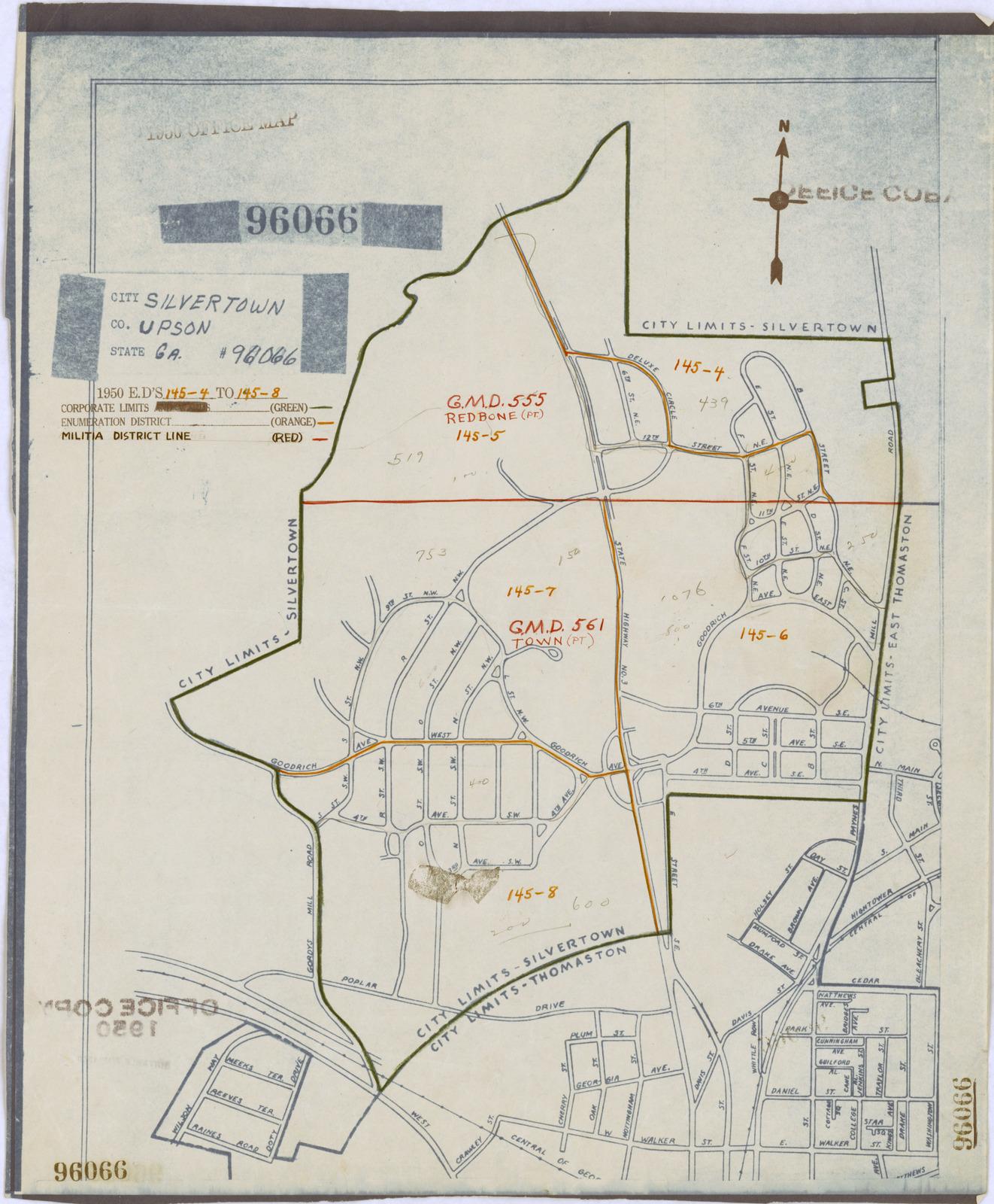 Map Of Georgia District 6.1950 Census Enumeration District Maps Georgia Ga Upson County