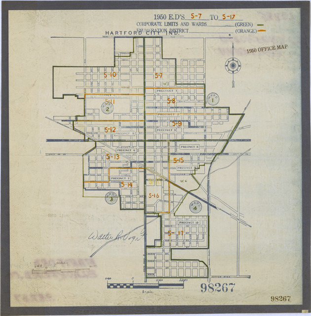 1950 Census Enumeration District Maps - Indiana (IN) - Blackford County - Hartford - ED 5-7 to 17