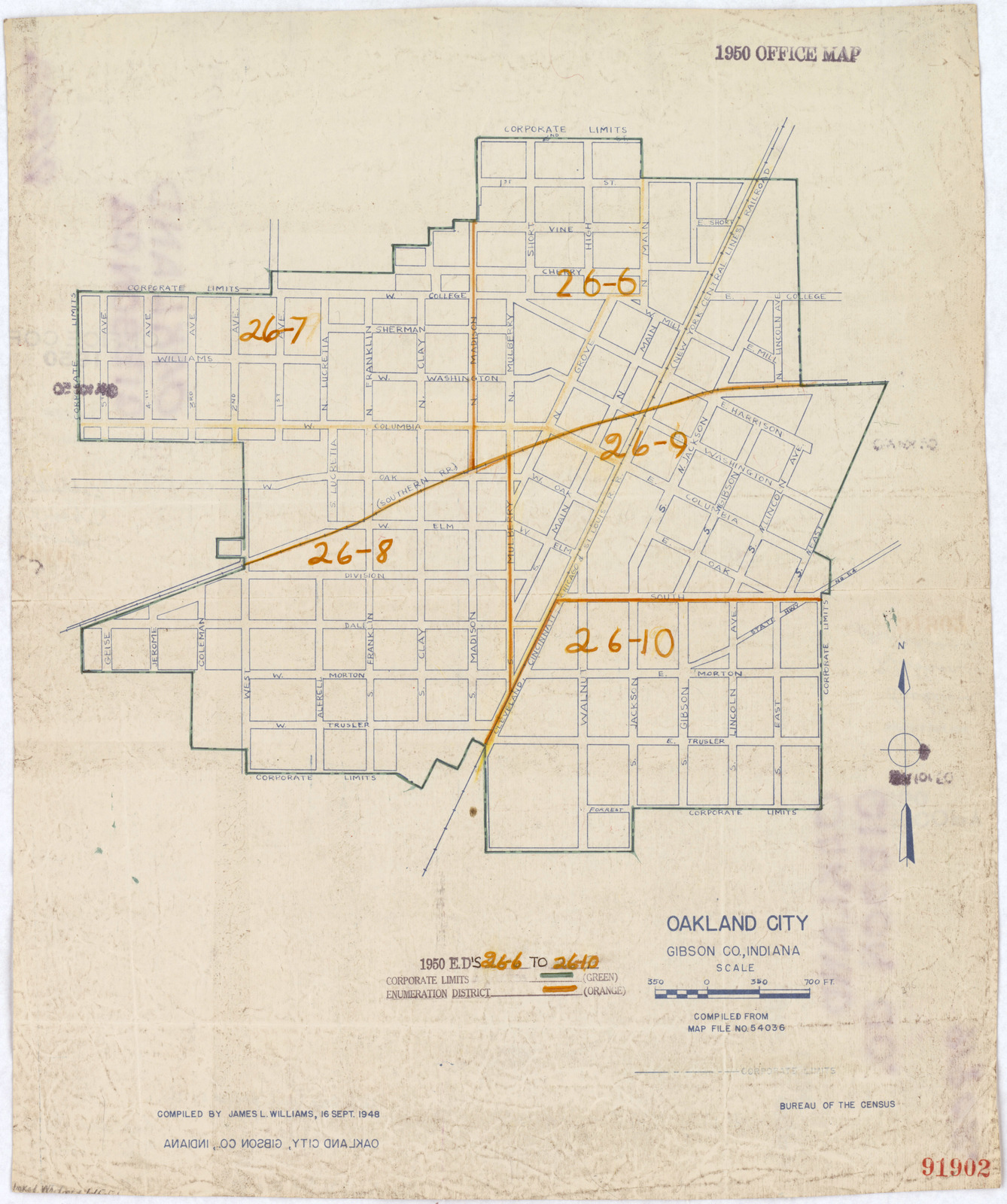 Gibson County Indiana Map.1950 Census Enumeration District Maps Indiana In Gibson County