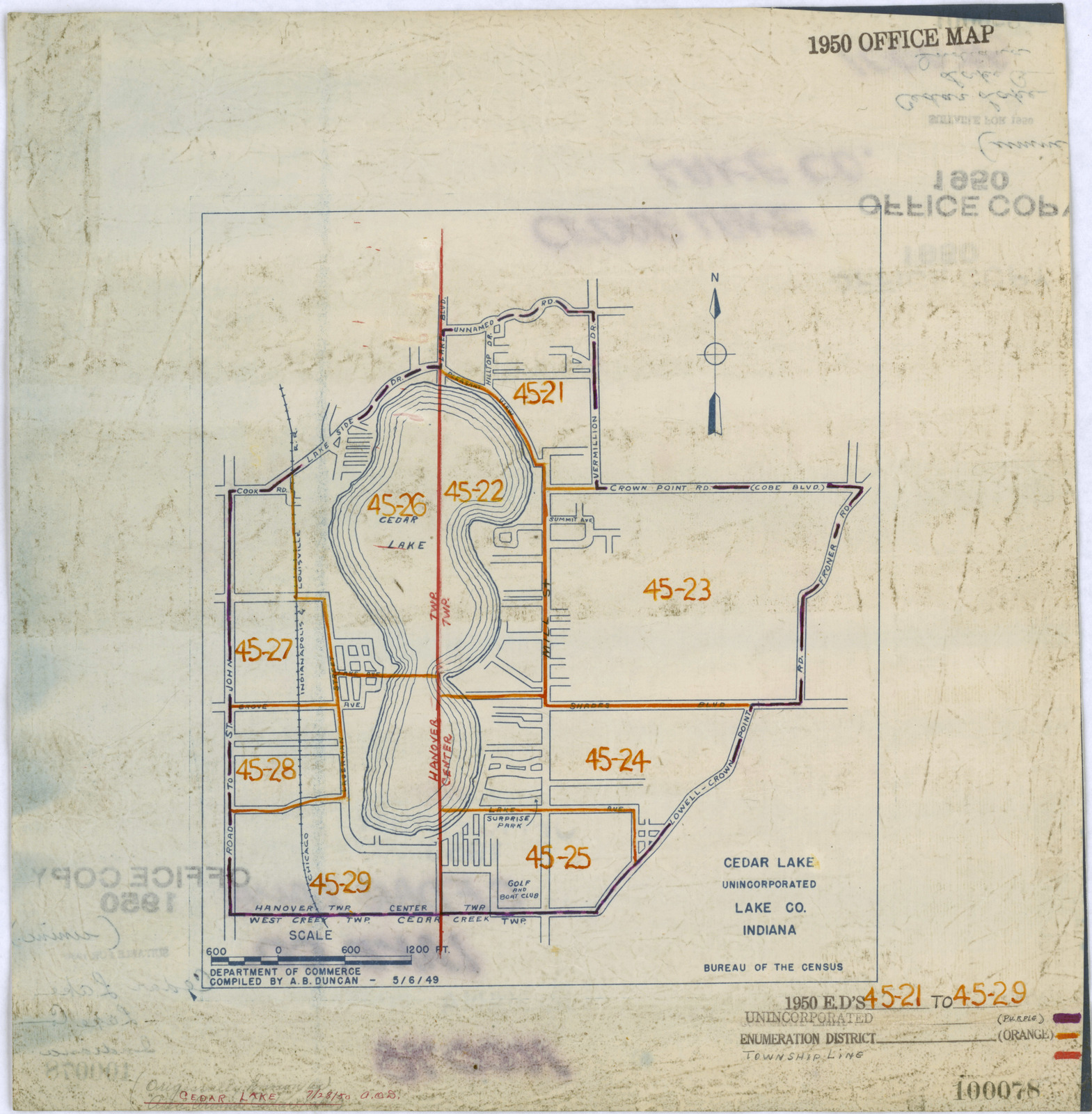 1950 Census Enumeration District Maps Indiana In Lake County