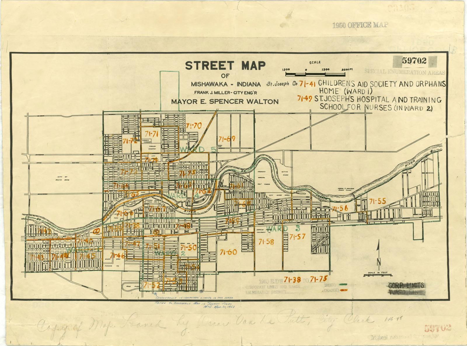 1950 Census Enumeration District Maps Indiana In St Joseph