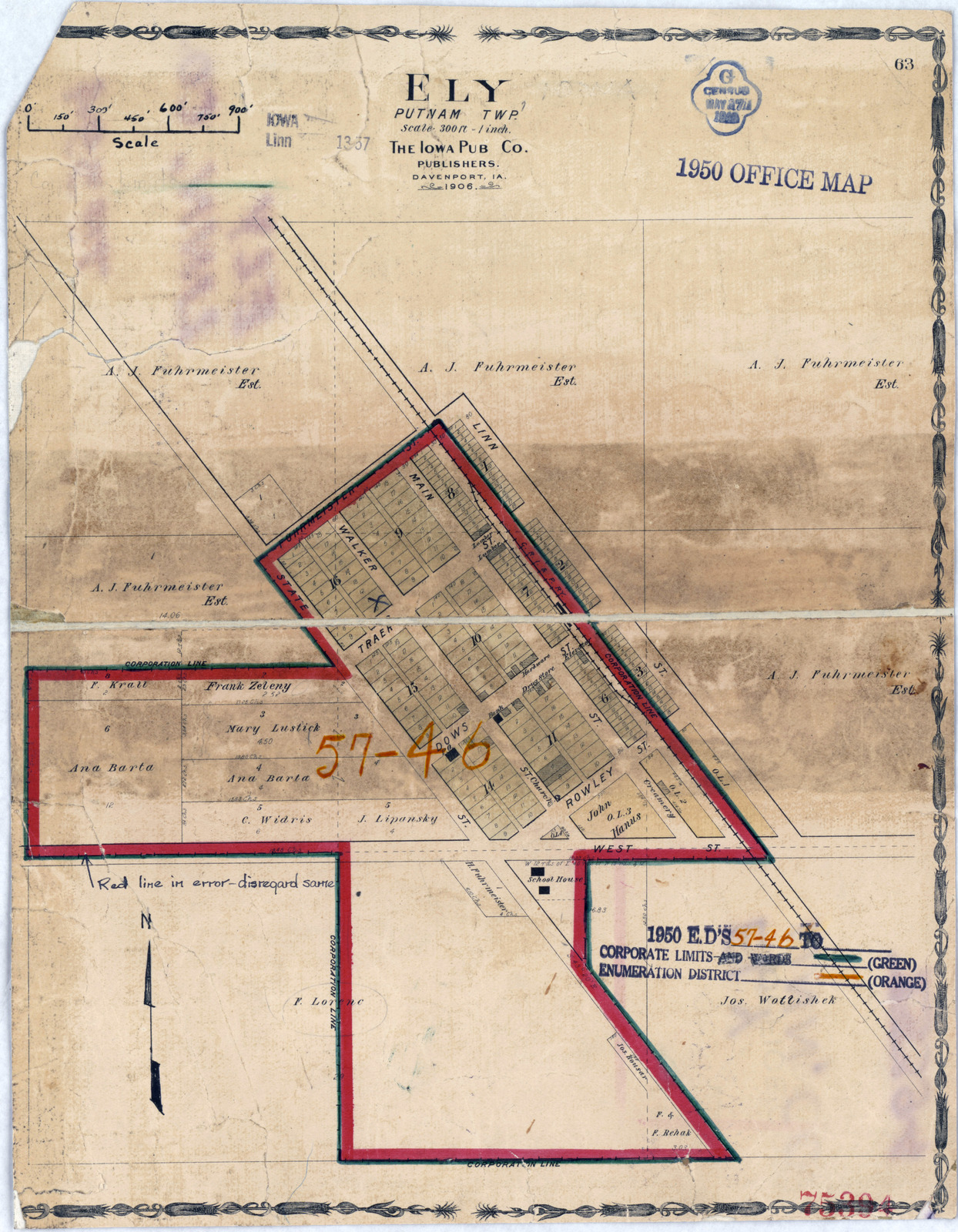 1950 Census Enumeration District Maps - Iowa (IA) - Linn County ...