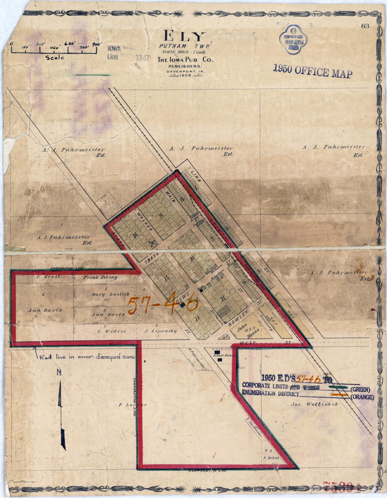 1950 Census Enumeration District Maps - Iowa (IA) - Linn ...