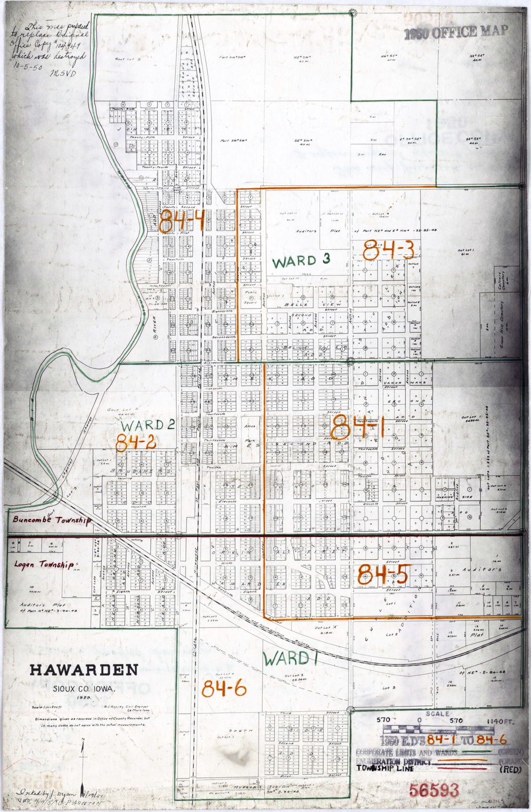 Sioux County Iowa Map.1950 Census Enumeration District Maps Iowa Ia Sioux County
