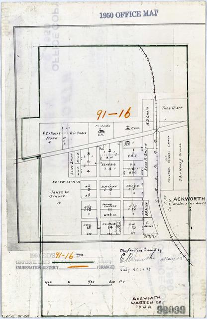 Warren County Iowa Map.1950 Census Enumeration District Maps Iowa Ia Warren County