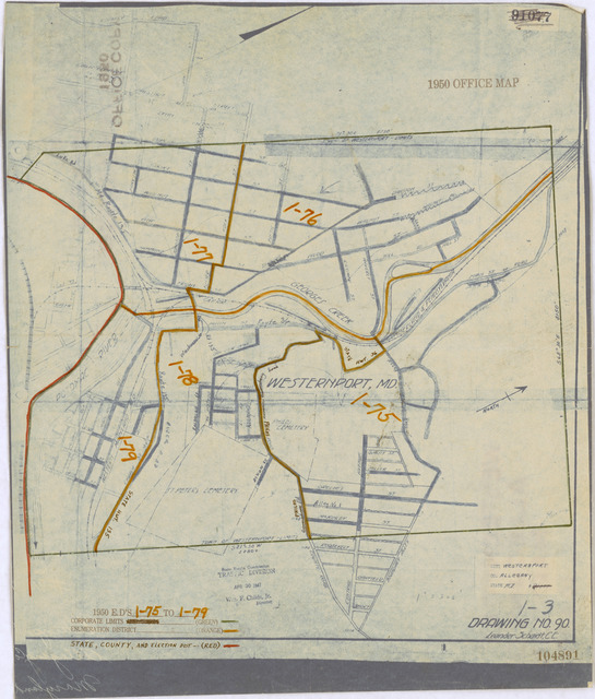 1950 Census Enumeration District Maps - Maryland (MD) - Allegany County - Westernport - ED 1-75 to 79