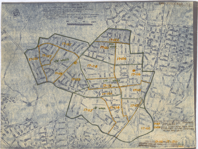 1950 Census Enumeration District Maps - Maryland (MD) - Prince Georges County - Hyattsville - ED 17-112 to 130