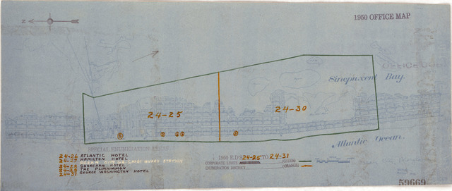 1950 Census Enumeration District Maps - Maryland (MD) - Worcester County - Ocean City - ED 24-25 to 31