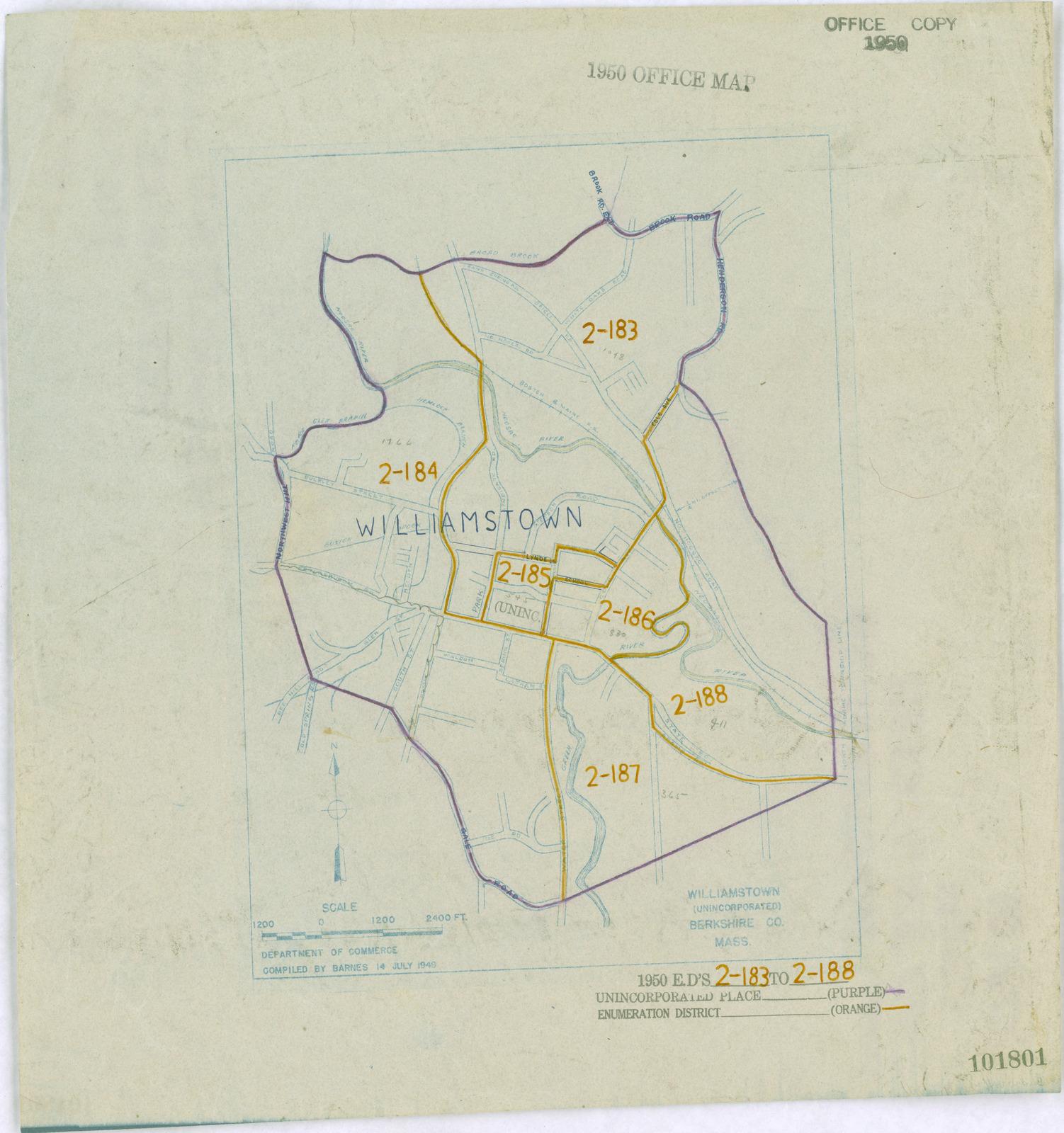 1950 Census Enumeration District Maps Massachusetts Ma - Massachusetts-on-the-us-map