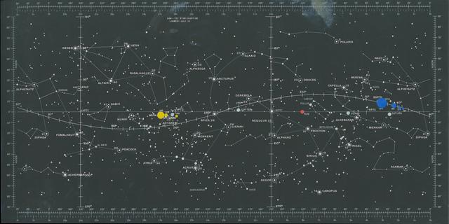 Star Chart from Apollo 11