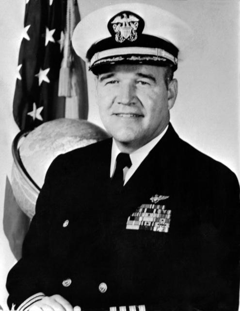 CAPT. Hank P. Glindeman Jr., USN (covered) CO, USS RANGER (CV-61), 1971-1973