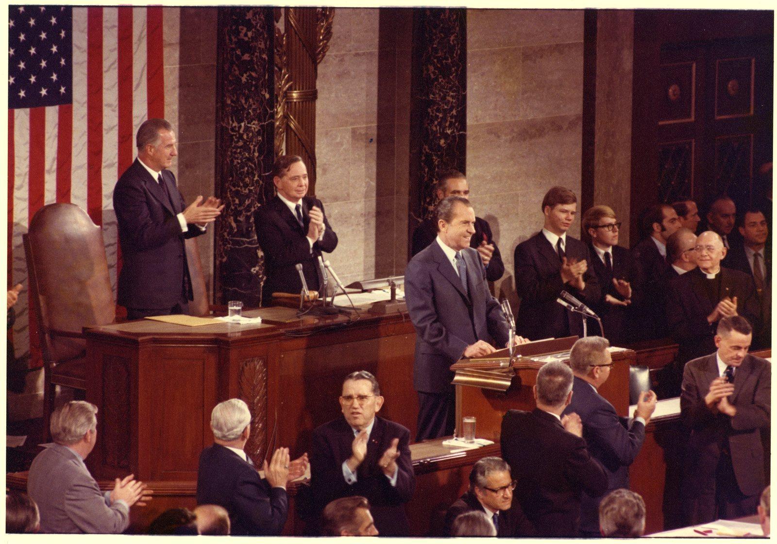 President Richard Nixon Making the State of the Union Address