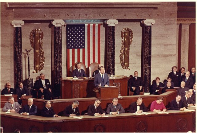 President Richard Nixon Delivering the 1971 State of the Union Address