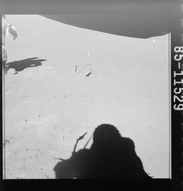 AS15-85-11529 - Apollo 15 - Apollo 15 Mission image - View of Station 6 and Core 07 (Lunar Receiving Laboratory (LRL) 15009),
