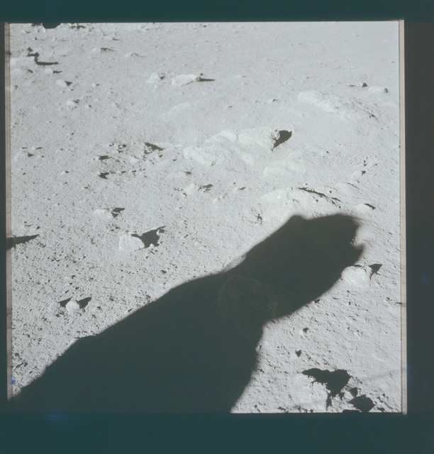 AS15-86-11540 - Apollo 15 - Apollo 15 Mission image - Documentation of Station 1 and Sample