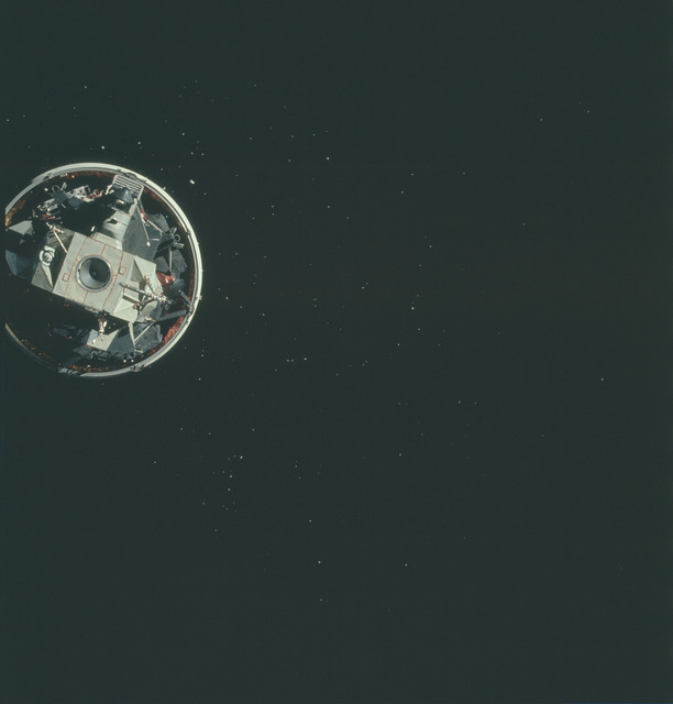 AS15-91-12329 - Apollo 15 - Apollo 15 Mission image - CSM Transposition and Docking maneuver