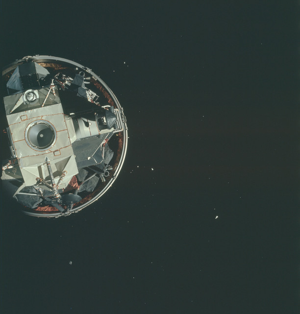 AS15-91-12333 - Apollo 15 - Apollo 15 Mission image - CSM Transposition and Docking maneuver