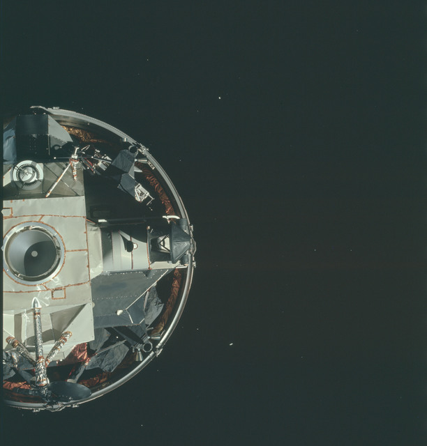 AS15-91-12334 - Apollo 15 - Apollo 15 Mission image - CSM Transposition and Docking maneuver