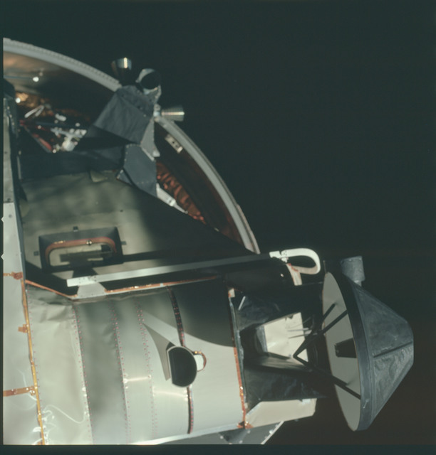 AS15-91-12337 - Apollo 15 - Apollo 15 Mission image - CSM Transposition and Docking maneuver