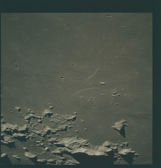 AS15-91-12372 - Apollo 15 - Apollo 15 Mission image - View of Caucasus Mountains (Mts.).