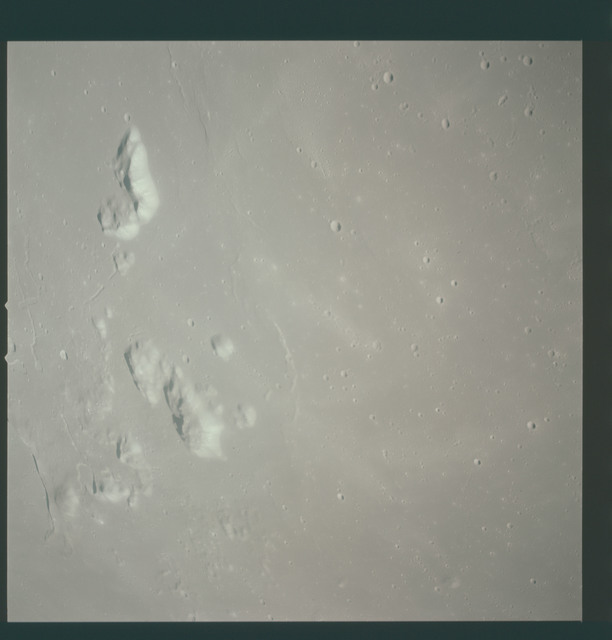 AS15-93-12594 - Apollo 15 - Apollo 15 Mission image - View of  Crater Prinz and Harbinger Mts