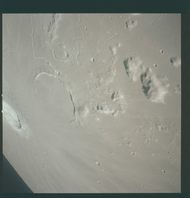 AS15-93-12598 - Apollo 15 - Apollo 15 Mission image - View of  Crater Prinz and Harbinger Mts