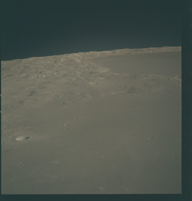 AS15-93-12715 - Apollo 15 - Apollo 15 Mission image - View of Crater Mairan A and the Jura Mts. (Montes Jura)
